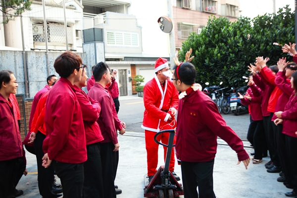 Exchanging gifts on Christmas day.